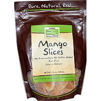 Сушеные манго (Mango Slices), Now Foods, 284 г