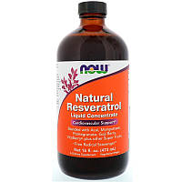 Ресвератрол (Resveratrol), жидкий, Now Foods, 473 мл, фото 1