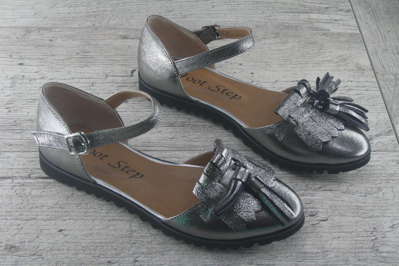 baefdf065 Босоножки, сандалии женские на ровной ходу из натуральной кожи Foot Step, обувь  летняя,