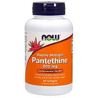 Пантетин, двойная сила, Pantethine, Double Strength, Now Foods, 600 мг, 60 капc.