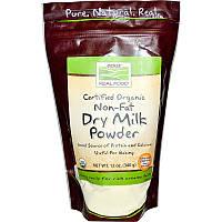 Органическое сухое молоко, Now Foods, 340 г