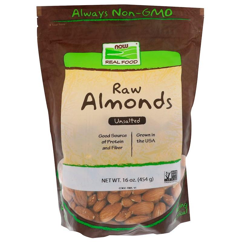 Миндальные орехи, Now Foods, 454 г