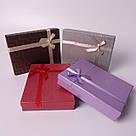 """Подарочная коробочка """"Геометрия с бантом Большая коричневая 16 х 12,5 х 3 см"""" для набора , фото 3"""