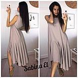 Женское платье свободного кроя с рюшами (3 цвета), фото 2