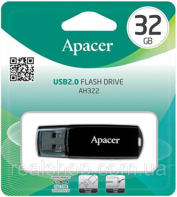 Накопитель USB Apacer  32GB AH322 black