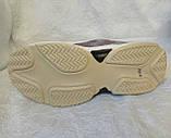Жіночі кросівки Balenciaga Triple s сірі з жовтим і білим, фото 5