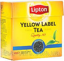 Чай чорний листовий Lipton Yellow Label 100 гр.