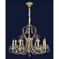 Прованс на 8 ламп белый с золотом Ris-x9648-8белое золото