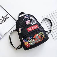 Женский рюкзак Supreme Star Trend (черный)