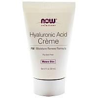 Крем ночной с гиалуроновой кислотой, Hyaluronic Acid Creme, Now Foods, (59 мл)