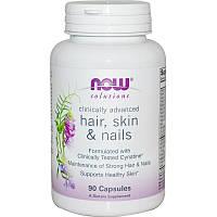 Витамины для кожи, волос и ногтей, Hair, Skin & Nails, Now Foods, 90 кап.