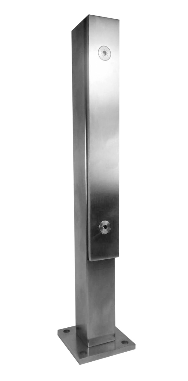 ODF-02-06-01-H400 Стойка для стекла из нержавейки с прижимной пластиной
