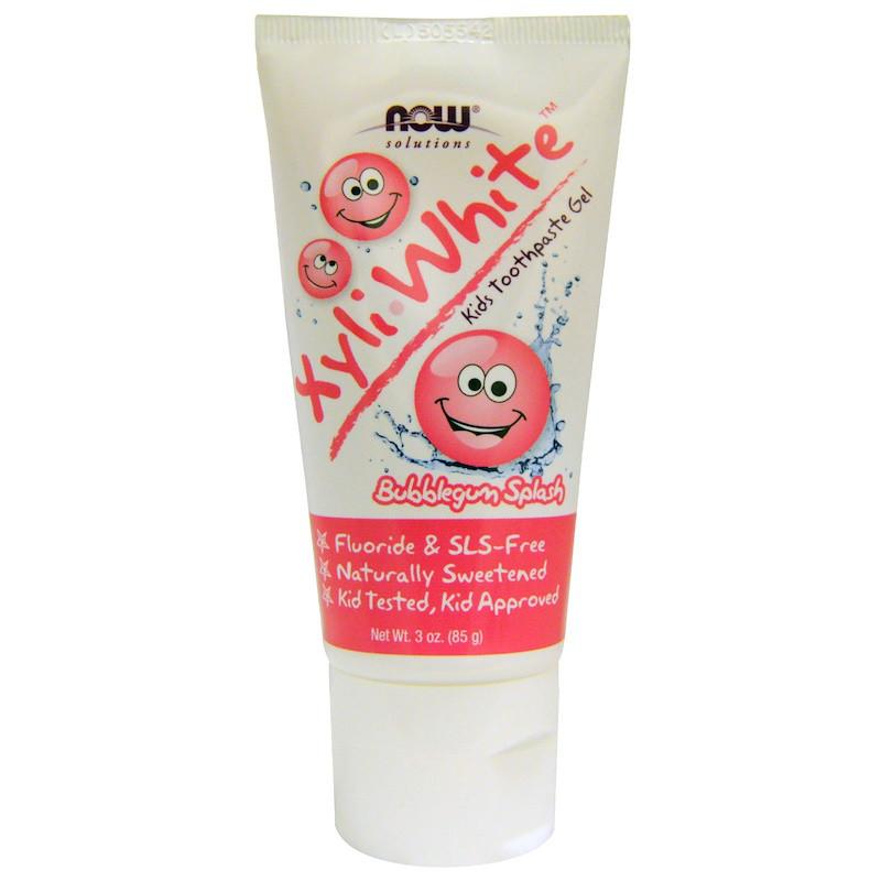Детский зубной гель (жевательная резинка) Kids Toothpaste Gel, Now Foods, 85 г
