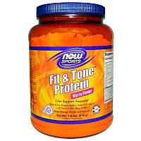 Сывороточный протеин, Fit & Tone Protein, (вкус ягод), Now Foods, 816 г