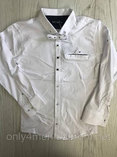 Рубашка с длинным рукавом для мальчика 116-152см