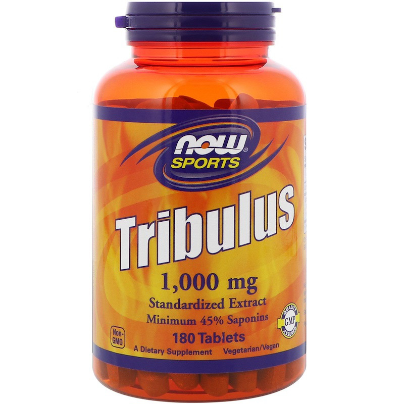 Трибулус повышает тестостерон, Now Foods, Tribulus, 180 капсул