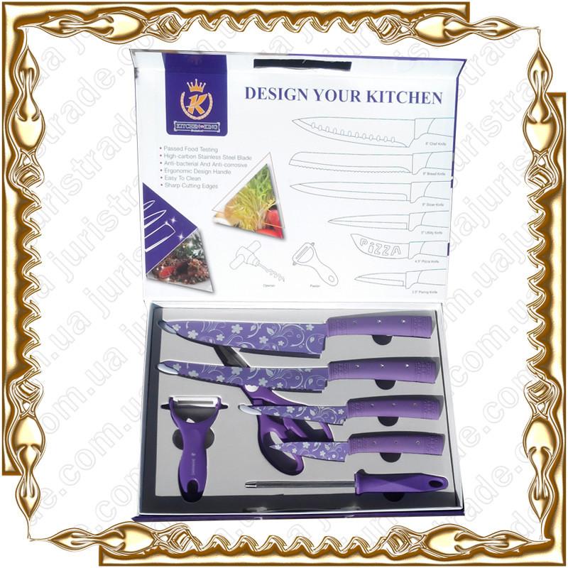 Набор ножей 7 предм. тефлон Frico KK-21COL8
