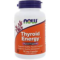 Витамин для щитовидной железы Thyroid Energy, Now Foods 90 капсул