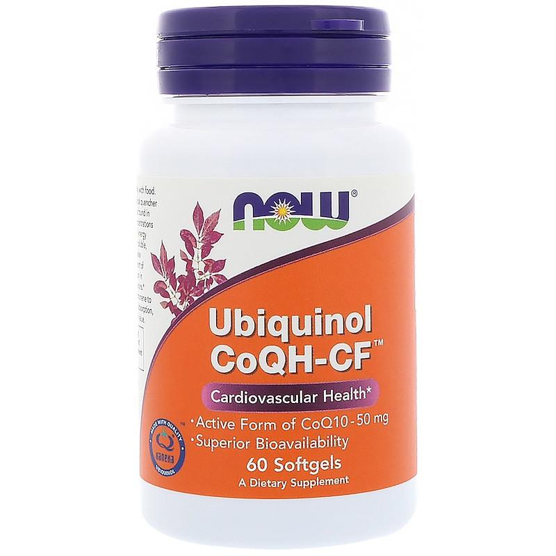 Убихинол (Ubiquinol CoQH-CF), Now Foods, 50 мг, 60 капсул