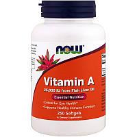 Витамин А, Now Foods, 25000 МЕ, 250 капсул
