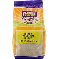 Подорожник (Whole Psyllium Husks), Now Foods, 454 гр.