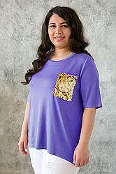 Женская футболка 54-60 размеры SV Лана