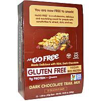 NuGo Nutrition, Безглютеновый батончик с темным шоколадом, орехами и сухофруктами, 12 шт по 45 г каждый