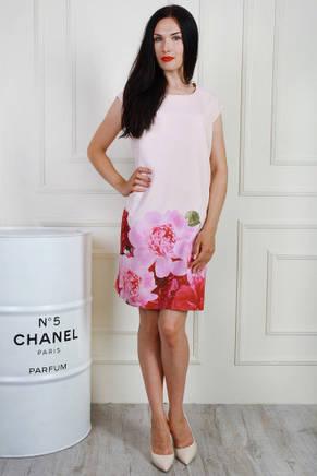 Летнее платье мини с цветочным принтом, 50,52,54, фото 2