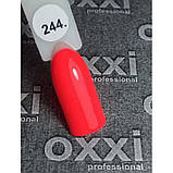 Гель лак Oxxi № 244 яркий коралловый, неоновый, фото 2