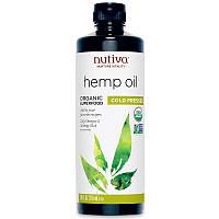 Nutiva, Органическое конопляное масло, холодного отжима, 710 мл (24 жидкие унции)