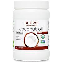 Кокосовое масло холодного отжима, Coconut Oil, Nutiva, 858 мл