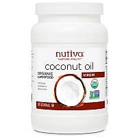 Кокосовое масло холодной выжимки,  444 мл, Nutiva, Nutiva, Nurture Vitality