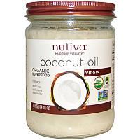 Кокосовое масло холодного отжима, Coconut Oil, Nutiva, 414 мл