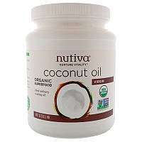 Кокосовое масло холодного отжима, Coconut Oil, Nutiva, 1,6 л