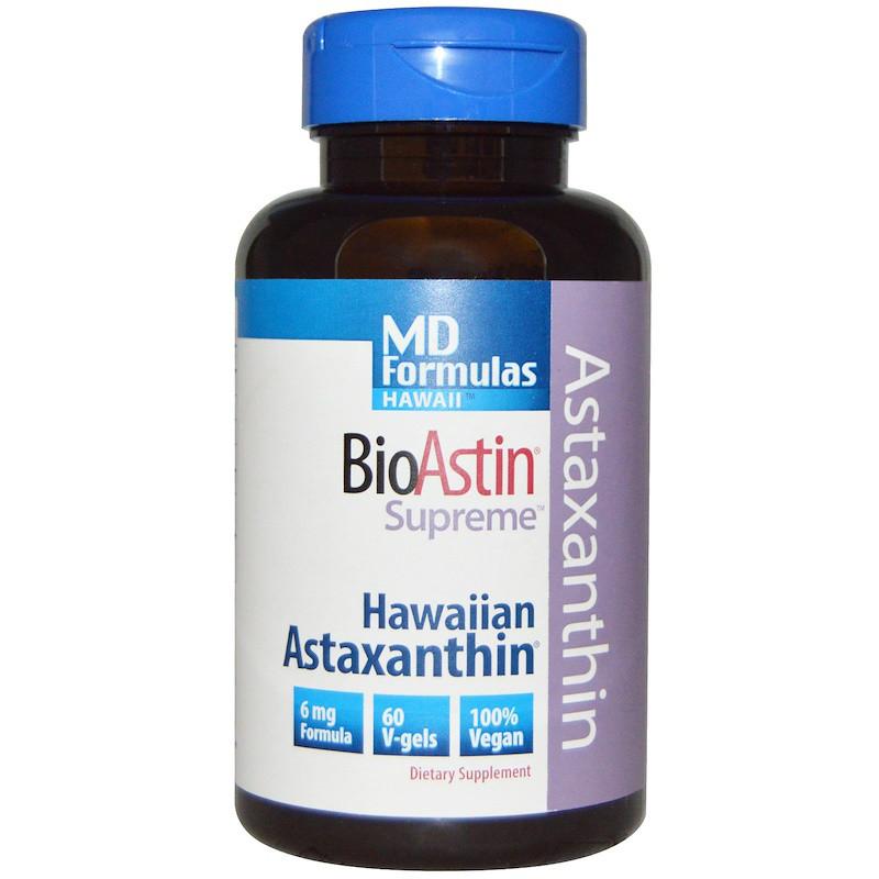Гавайский астаксантин, Nutrex Hawaii, 6 мг, 60 кап