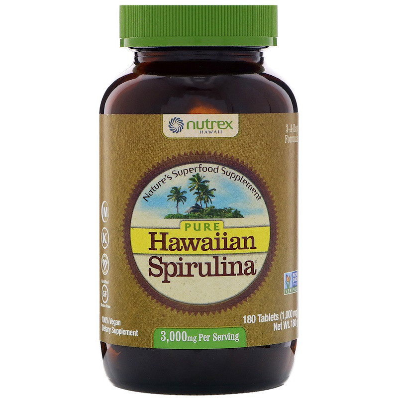 Спирулина, Nutrex Hawaii, 180 таблеток.