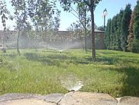 Земляные работы. Монтаж  трубопроводов, узлов установки дождевателей и э/м клапанов