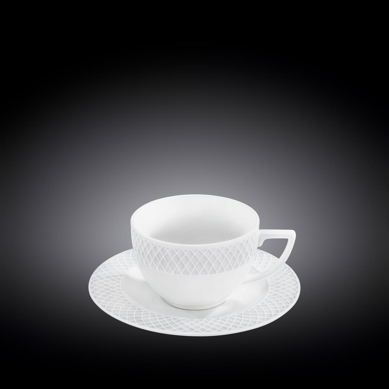 Чашка чайная и блюдце Wilmax  240мл WL-880105 / AB, Julia
