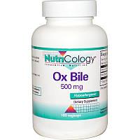 Экстракт бычьей желчи (Ox Bile), Nutricology,  500 мг, 100 капсул