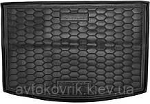 Пластиковый коврик в багажник Mazda CX-3 2018- (AVTO-GUMM)
