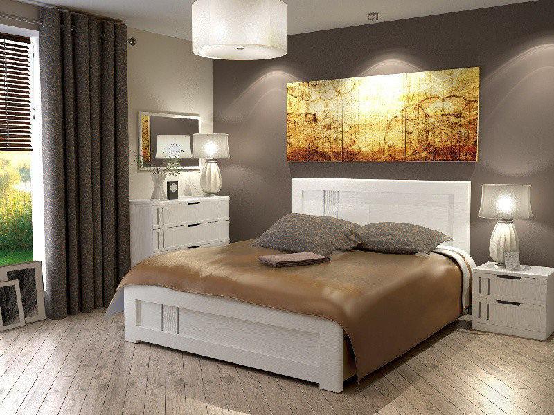 Ліжко з ДСП/МДФ в спальню Зоряна 140*200 Неман
