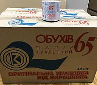 """Туалетная бумага макулатурная без гильзы """"Обухов"""" 65м"""