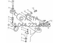 Передняя ось - рулевой цилиндр на YTO-X704