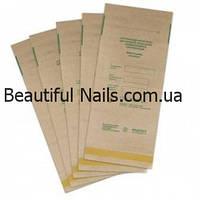 Крафт пакеты для паровой и воздушной стерилизации, 100*200 мм (100 штук в упаковке)
