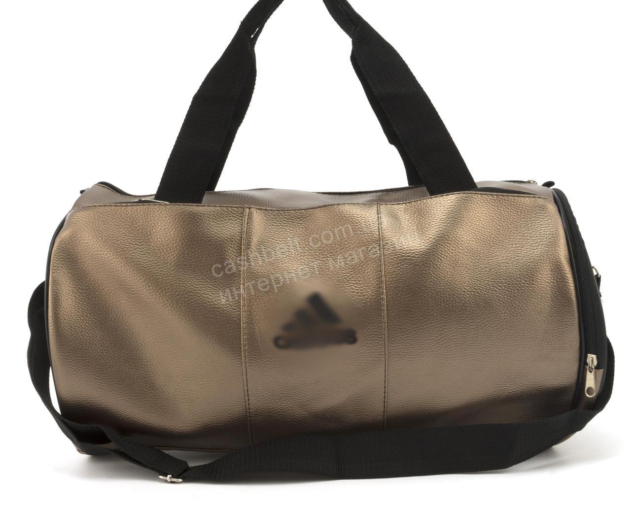 c41b95dd7810 Спортивная женская сумка из эко кожи бочонок art. 418 (102163) бронзовая