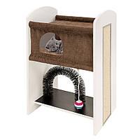 Домик-когтеточка для кошек Ferplast Leo спальное место мебель