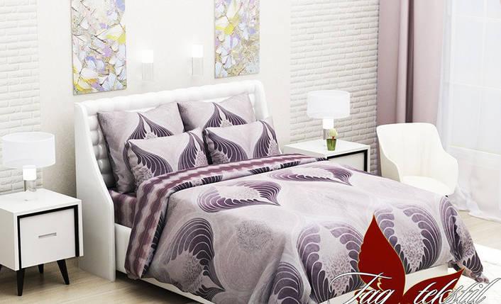 Евро комплект постельного белья, Ранфорс, фото 2