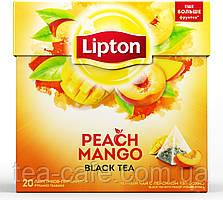 Чай чорний Lipton Peach Mango 20 пак.*1,8 гр.