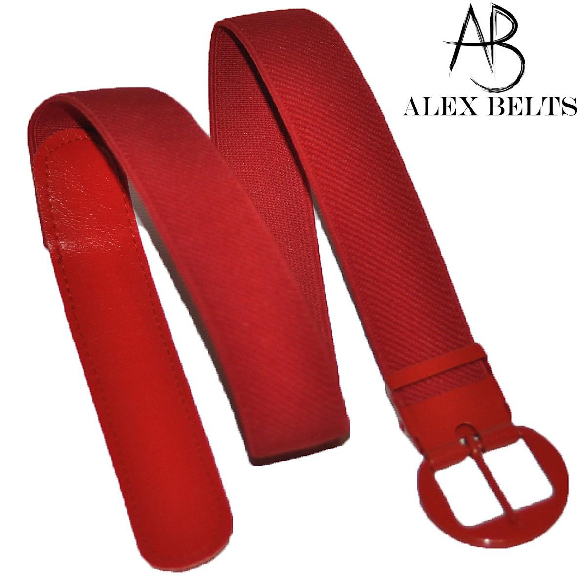 Детский ремень-резинка (красный) пряжка -шпенек 25 мм купить оптом в Одессе