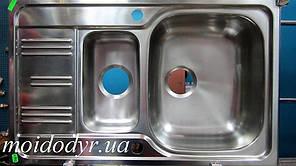 Мойка кухонная врезная из нержавеющей стали Kuchinox 500х800